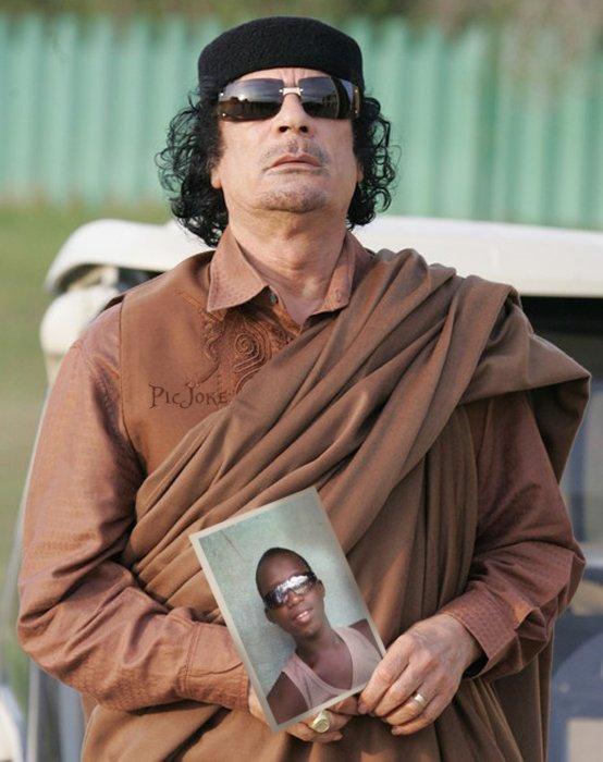 MDG et le guide libien MOHAMADE KHADAFI