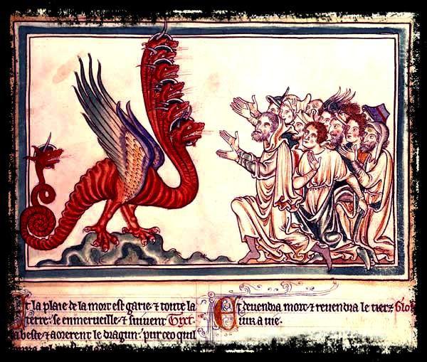Le Dragon à sept têtes et la Bête aux cornes d'agneau