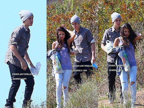 Justin et Selena Gomez ont été vu le 4 avril, alors qu'ils se promenaient à Griffith Park, à Los Angeles. Ils se sont posés quelques minutes afin de manger leur Subway!