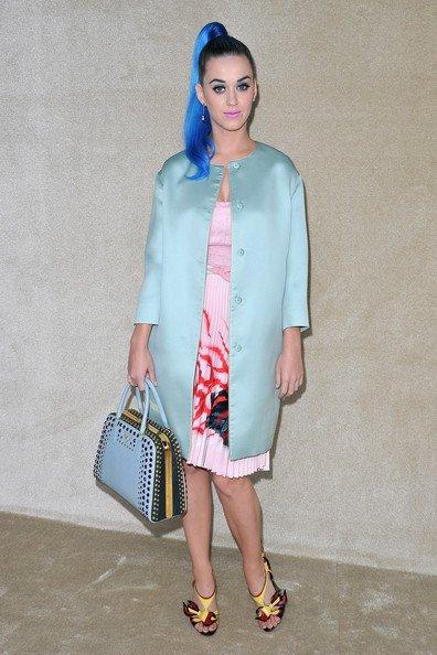 Katy Perry - PARIS FASHION WEEK WOMENSWEAR FALL/WINTER MIU MIU