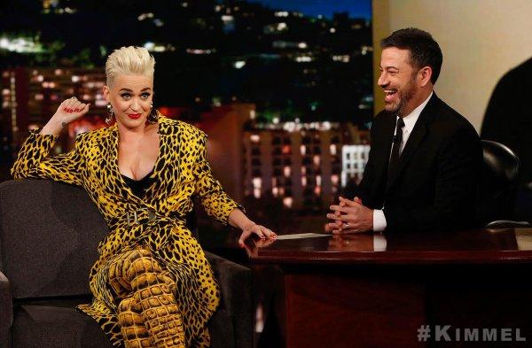 """Katy Perry - ABC's """"Jimmy Kimmel Live"""" 06/03/2018"""