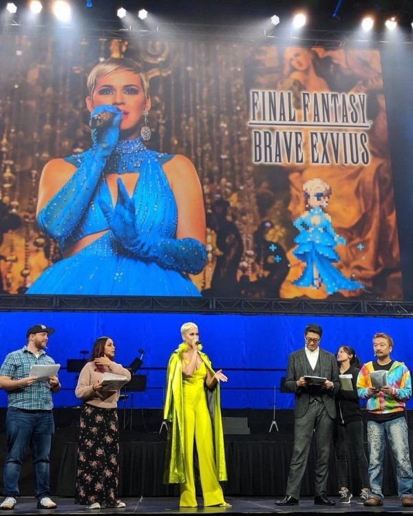 Katy perry - Final Fantasy immortal flame behind the scane 22/11/2018
