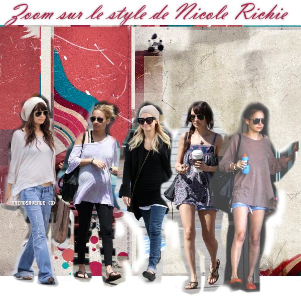 Zoom sur les tenues de Nicole Richie . Tu aimes ? Quelle est la tenue que tu préfère ? Celle que tu déteste ?