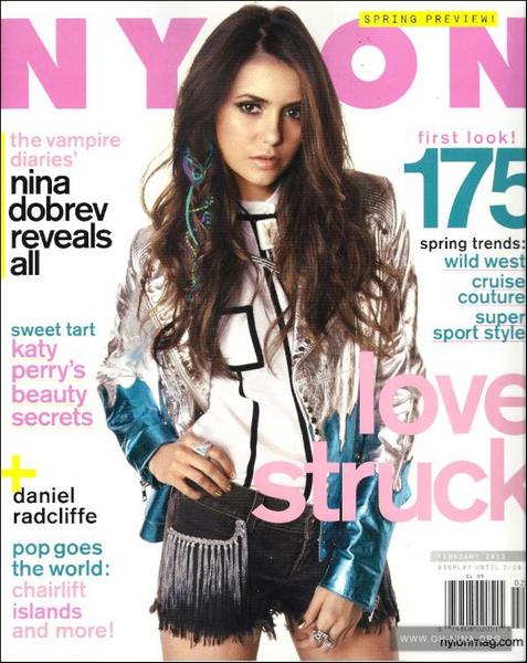 (86)17/01/2012● Nina fera la couverture du magazine Nylon  Seule photo actuellement disponible
