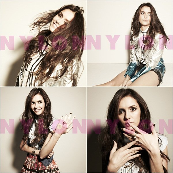 (90)21/01/2012● Scans du magazine Nylon dont Nina y est en couverture J'aime la première photo, photoshoot simple mais jolie