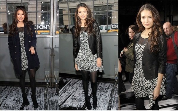 (120)12/02/2012● Nina toujours à la fashion week mais cette fois ci au défilé de DKNY en compagnie de Ashley Greene  Qui est la nouvelle égérie de la marque