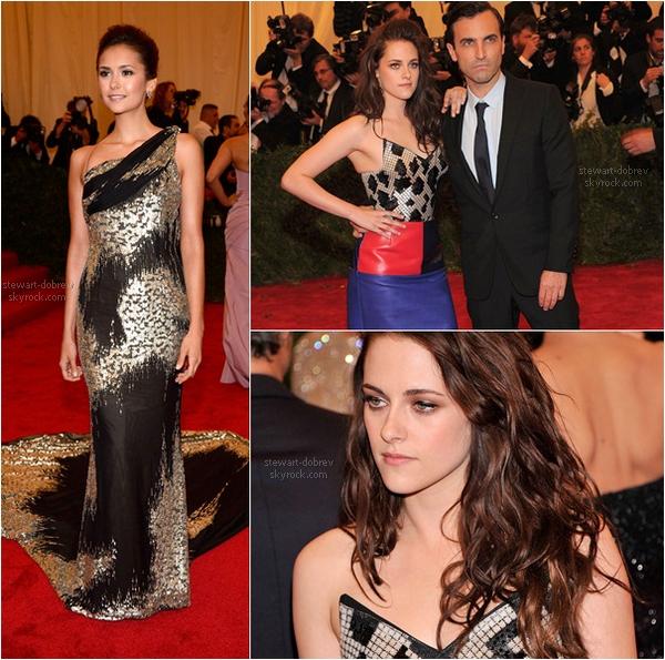 (203)07/05/2012× Les filles au MET Gala à NY. Nina est magnifique, je ne suis pas fan de la tenue de Kristen mais elle reste jolie.