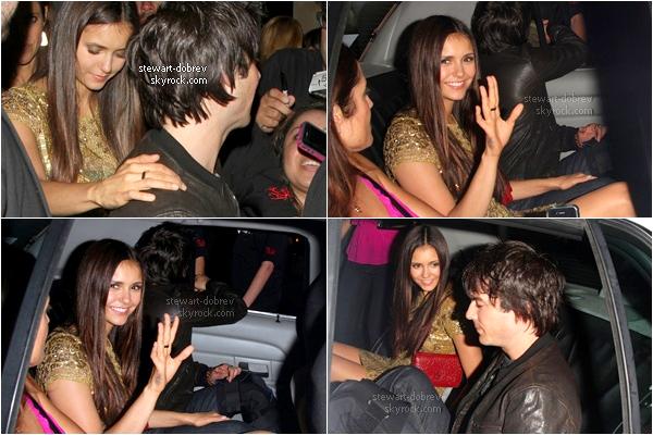 (274)14/07/2012●• Nina et Ian ont été aperçus à l'aéroport de San diego, pour le Comic-con de demain ! Ce couple est tellement accro à leurs portables, c'est marrant de voir ça. J'aime beaucoup la tenue de Nina sur ce candid.