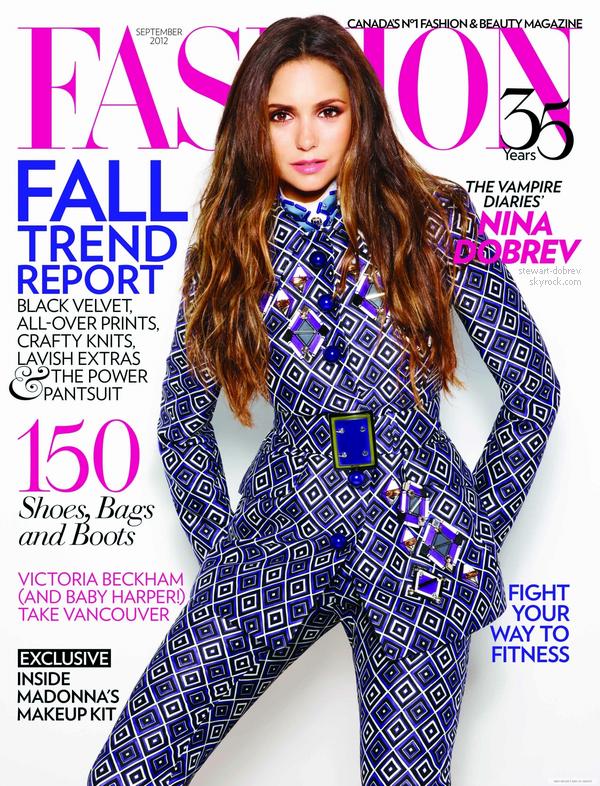 (290)09/08/2012●• Nina posant pour le magasine Fashion, elle en fera la couverture en septembre
