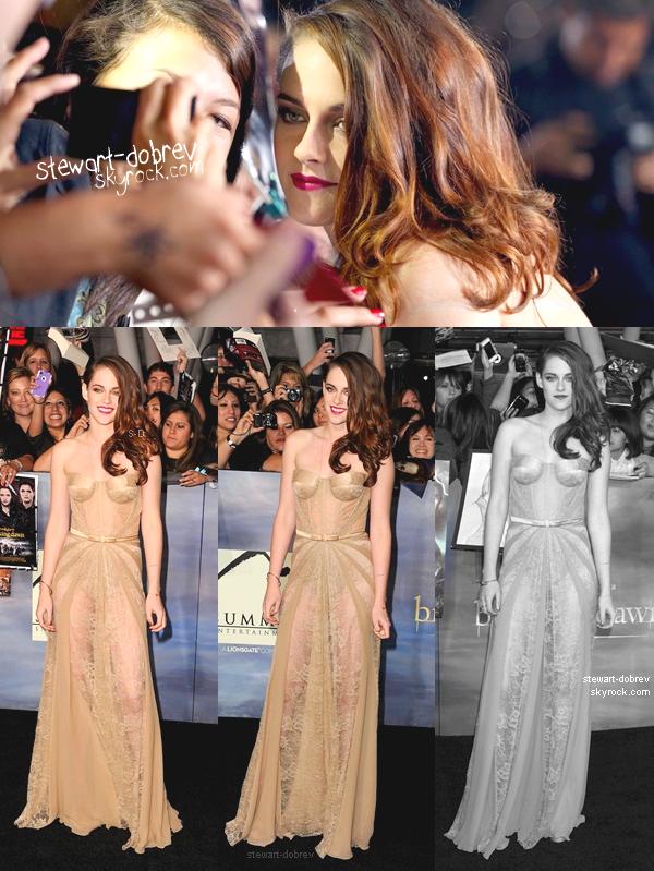 (352)12/11/2012▲▼ Une magnifique Kristen, Stephenie Meyer et une grande partie du cast, à l'avant-première de BD2 à Los Angeles. Revoir l'AP d'autres vidéos demain !