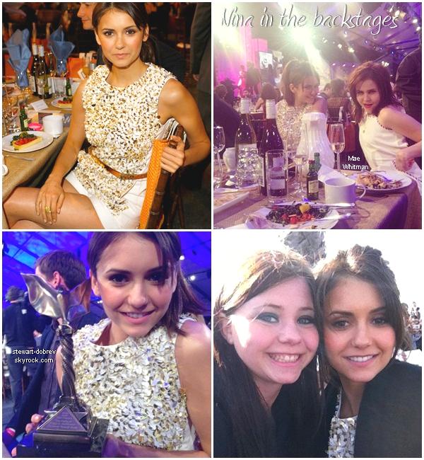 """(412)23/02/2013Nina a assistée au """"Spirit awards"""" cérémonie pour les films indépendants. Vidéos 1 2 3 4 Elle y était bien évidemment pour The perks of being a walflower. Je lui accorde un gros top là."""
