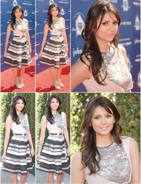 """(422)10/03/2013Nina était présente à la 10e édition de la """"Stuart house benefit"""" par John Carvatos, à LA. Je n'accroche pas forcément à la robe de Nina mais je la trouve néanmoins magnifique comme d'habitude."""