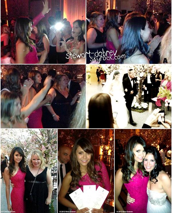 (460)18/05/2013Nina a assistée au mariage d'une amie avec Julie Plec et Marcos Siega, le 18 mai à NY