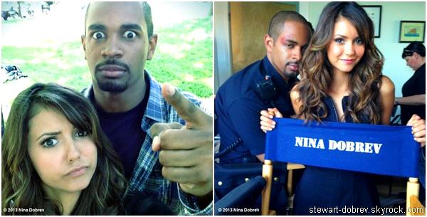 """(469)29/05/2013Nina avec Damon Wayans lors du tournage de """" Let's be cops"""" le 28 mai"""
