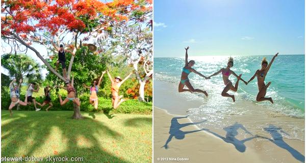 (494)05/07/2013.--/07. - Nina et Julianne Hough, seraient en vacances (encore) à Turks et Caicos Islands. Elle est en compagnie de sa bande d'amis habituelle, Julianne (+ son frère Derek), Riawna et d'autres sans noms, encore.