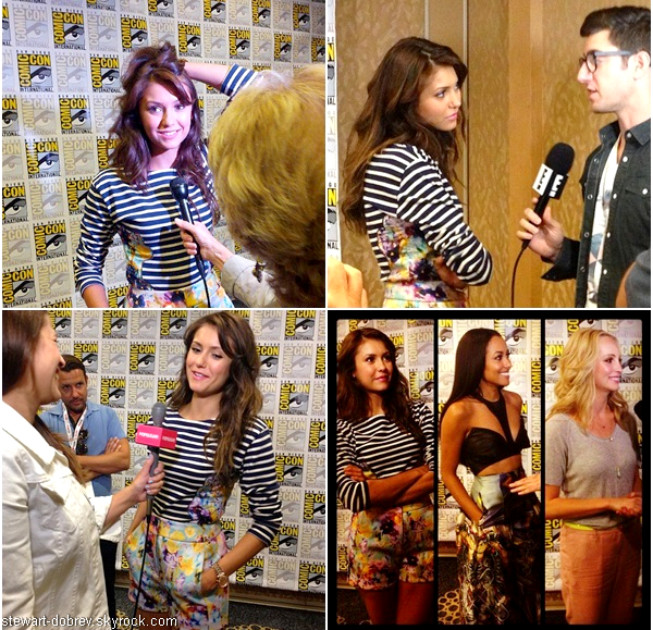 (503)20/07/2013.20/07. - Nina et une grande partie du cast de The Vampire Diaries au Comic-con à San diego.