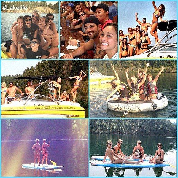 (531)30/08/2013.29/08. ♦ Plusieurs photos de Nina lors de son weekend à Idaho avec quelques amis.