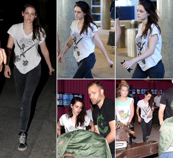 (548)05/10/2013.CANDID. ► 05 octobre : Kristen de retour à Los Angeles en vue de la fin du tournage de Sils Maria.