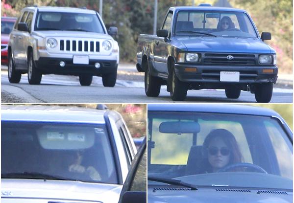(557)30/10/2013.CANDID. ► 30 octobre : (Robsten le retour !) Kristen et Robert on été vu au volant de leurs voitures dans LA.