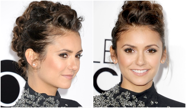 (590)09/01/2014.08 JANVIER. ▲ Le 8 janvier, Nina était à la cérémonie des People's Choice Awards 2014 en compagnie de Ian. Ils ont remportés le prix de la catégorie dans laquelle ils étaient nominés, « On-Screen Chemistry ».