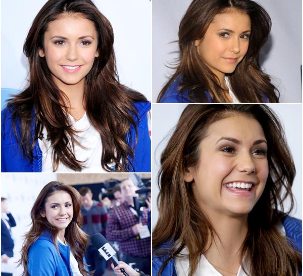 (606)01/02/2014 .01 FEVRIER. ▲ Le 1er février, Nina s'est rendue, comme chaque année au Celebrity Beach Bowl 2014.
