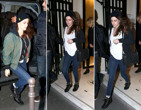 (607)03/02/2014 .02 FEVRIER. ▲ Kristen et Suzie on été vu à l'aéroport de Los Angeles, en direction de Paris.