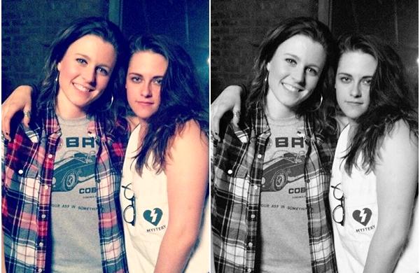 """(615)17/02/2014.17 FEVRIER. ▲ Kristen derrière la caméra réalisant le clip de """"Sage + The Saints"""". Kristen fait ses début de réalisatrice, j'ai hâte de voir le résultat !"""