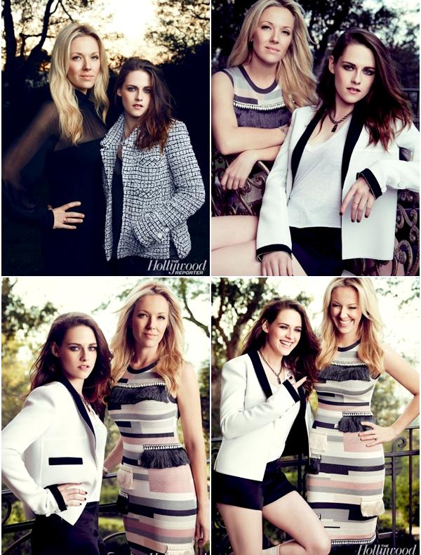 """(622)10/03/2014 .12 MARS. › Kristen et sa styliste Tara Swennen posant pour le magasine  """"Hollywood Reporter""""  spécial top styliste. Une vidéo BTS est disponible ici.___J'ai beau me pincer, c'est vrai. Le photoshoot est tout simplement sublimissime !"""