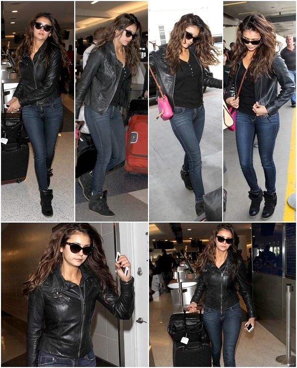 (630)05/04/2014 .24 MARS. › Nina a été vu à l'aéroport de LAX quittant Los Angeles. Nouveaux stills de l'épisode 5x18 « Resident Evil ».