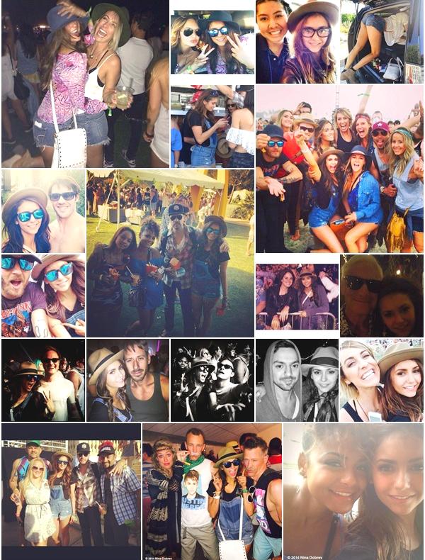 (635)13/04/2014 .11-12 AVRIL. › Nina et ses amis étaient ce weekend au festival de musique Coachella ! Elle à posée avec pas mal de monde. On peut voir qu'elle c'est bien amusée !