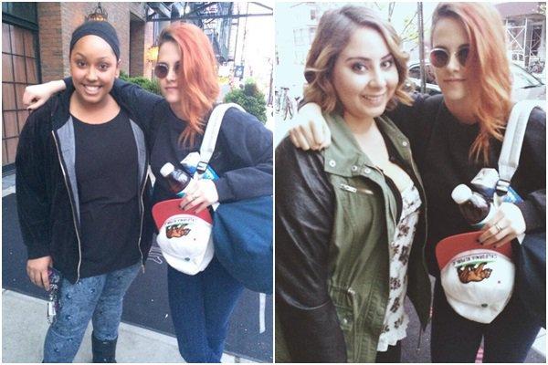 (641)05/05/2014 .06 MAI. › Le lendemain matin, des fan on pris des photos devant l'hôtel avec Kristen à NY. La belle retourne sur le tournage d'American Ultra en Nouvelle-Orléans.