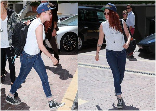 (644)23/05/2014 .23 MAI. › Kristen était présente au 67e festival de Cannes, à la  montée des marches de Sils Maria ! La combinaison Chanel fait très bien son job, Kristen est rayonnante tout comme le reste du cast !