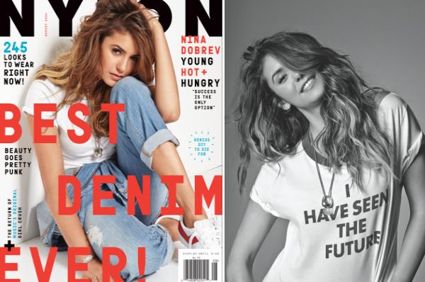 (663)18/07/2014 PHOTOSHOOT | .08/2014. › Nina est en couverture du magazine américain Nylon pour le mois d'août.