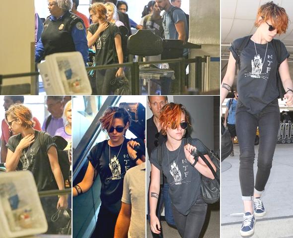 (666)25/07/2014 CANDIDS | .24/07/2014. › Kristen à l'aéroport de Los Angeles en direction du Japon ! Le tournage de d'Equals qui commence le 4 août.