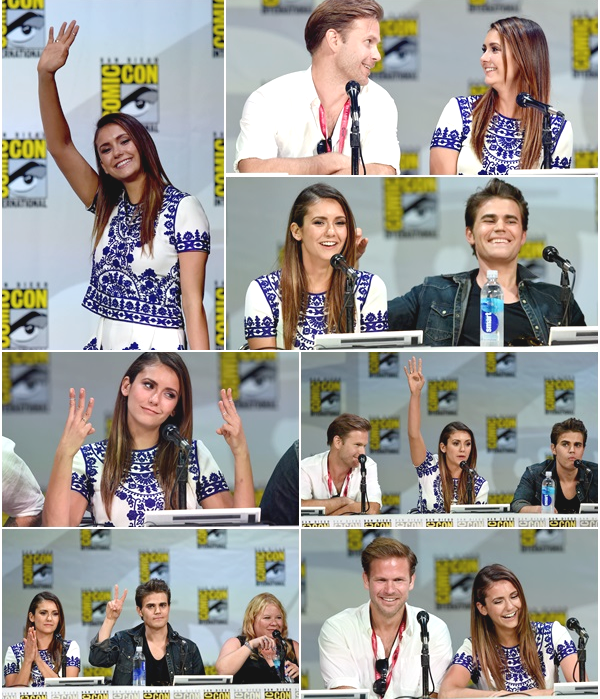 (669)26/07/2014 COMIC-CON | .26/07/2014. › Le cast de « The Vampire Diaries » arrivant au Comic Con à San Diego.