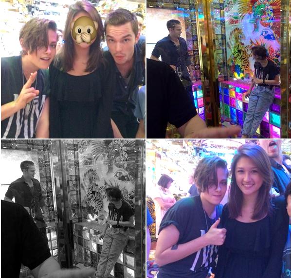 (672)28/07/2014 FAN PICTURES | .28/07/2014. › Kristen et Nicholas visitent le Japon, quelques fans ont eu la chance de les rencontrer ! Le tournage de d'Equals commence le 4 août.