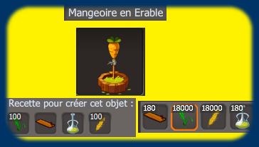 Mangeoire en Erable