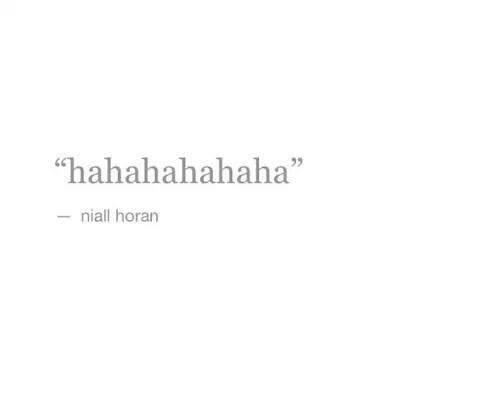Le rire de Niall...