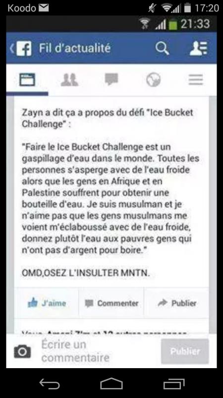 Zayn fait pas le challenge 2