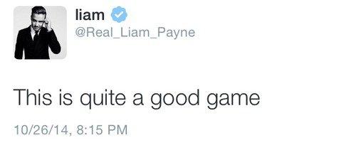 Liam - Twitter 27/10/2014