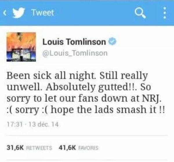 Louis absent aux NRJ!