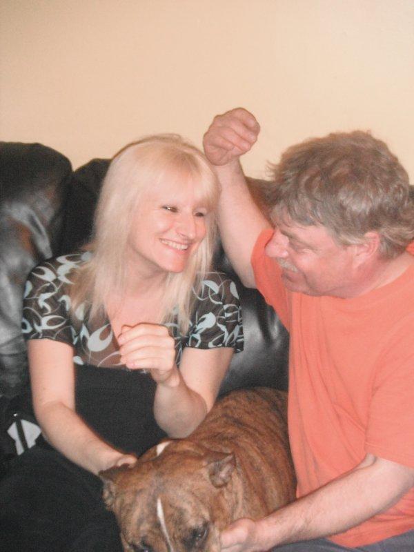 Moi et mon conjoint Gilles avec  ganja