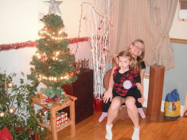 Ma fille Véronique avec ma petite fille Orélie