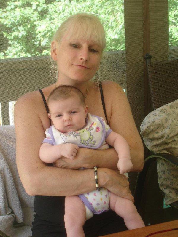 Moi et ma petite fille Amélie 6 mois