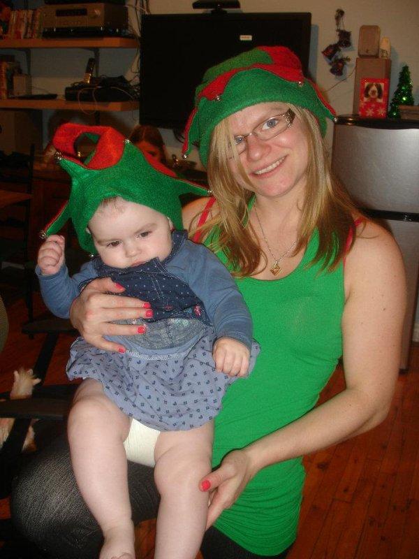 ma fille Véronique avec ma petite fille Amélie 6 mois