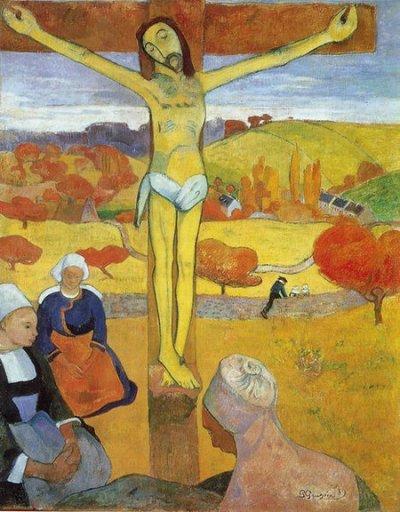 """Peut-être toi! Le 20 novembre 2010. Texte de crocus-Image """" le christ jaune"""" de Gauguin."""