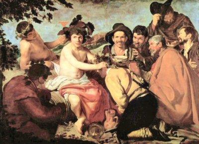 Chouette ambiance. le 5 décembre 2010-texte de moi- Image 'Bacchus couronnant les Ivrognes' , Diego Vélazquez.