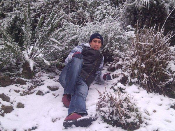 la neige a ouled attia janevier 2012