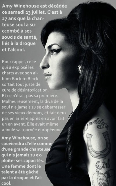 Amy Winehouse morte !