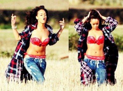 Rihanna sur le tournage du vidéoclip de « We Found Love »